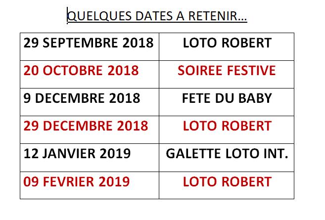 Evénements 2018-2019 : l'agenda des Gazelles !