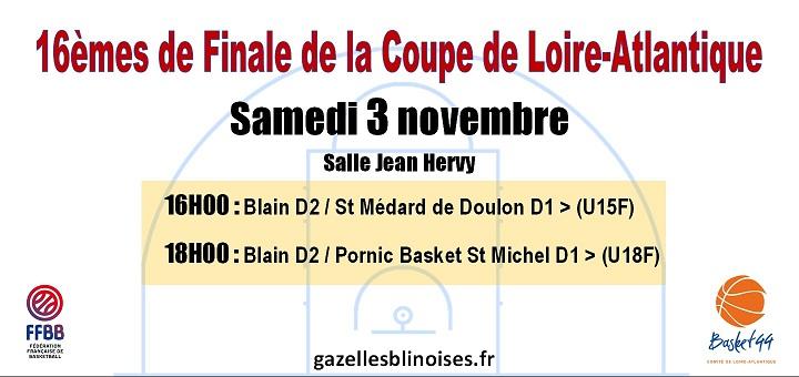 16èmes de Finale Coupe de Loire-Atlantique