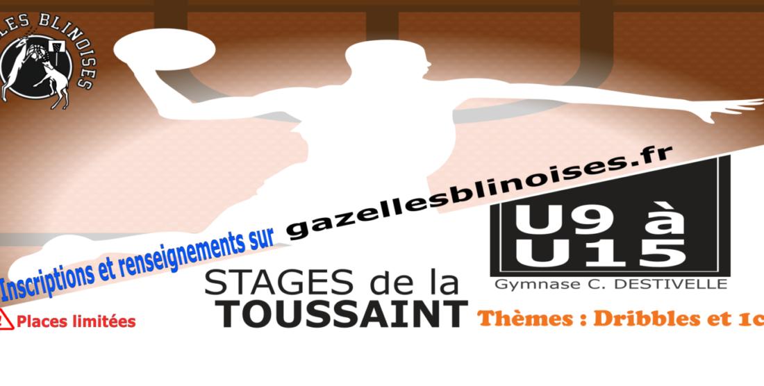 Stages de basket vacances de la Toussaint (U9 à U15)