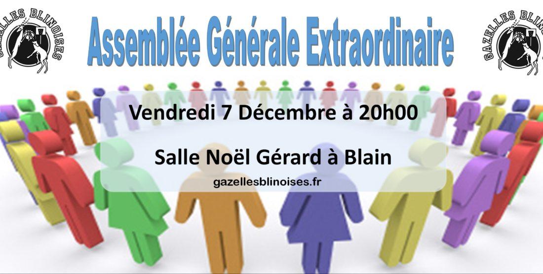 Assemblée générale extraordinaire – 7 décembre 20H