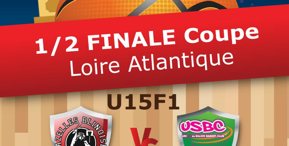 Les U15F1 en 1/2 de finale de la Coupe de Loire-Atlantique