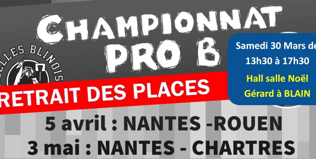 Retrait des Places pour Match Hermine de Nantes