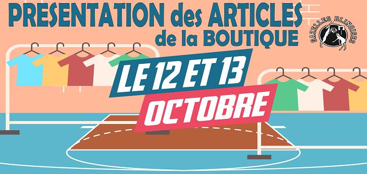 Boutique club : RDV les 12-13 octobre !