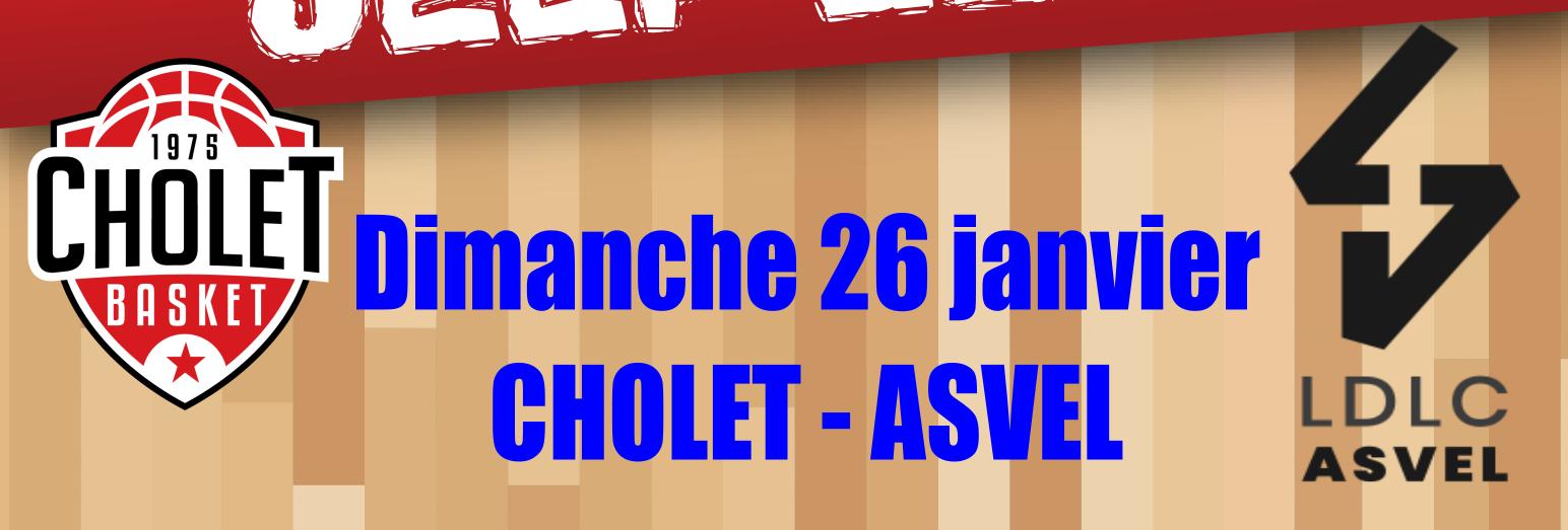 Déplacement match CHOLET / ASVEL