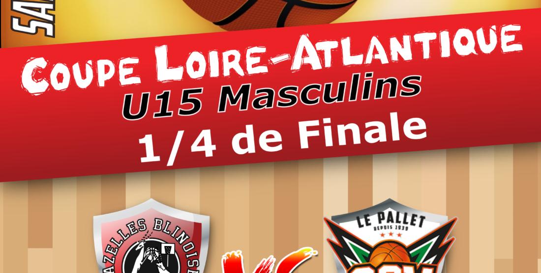 1/4 de finale de Coupe Loire-Atlantique U15M à GORGES