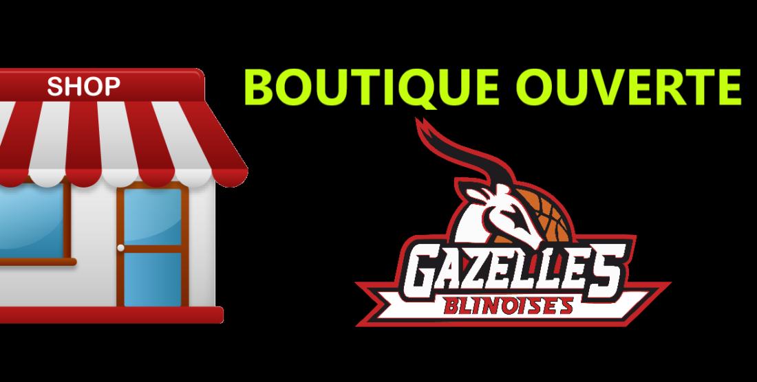 Nouveau logo des Gazelles, nouvelle boutique