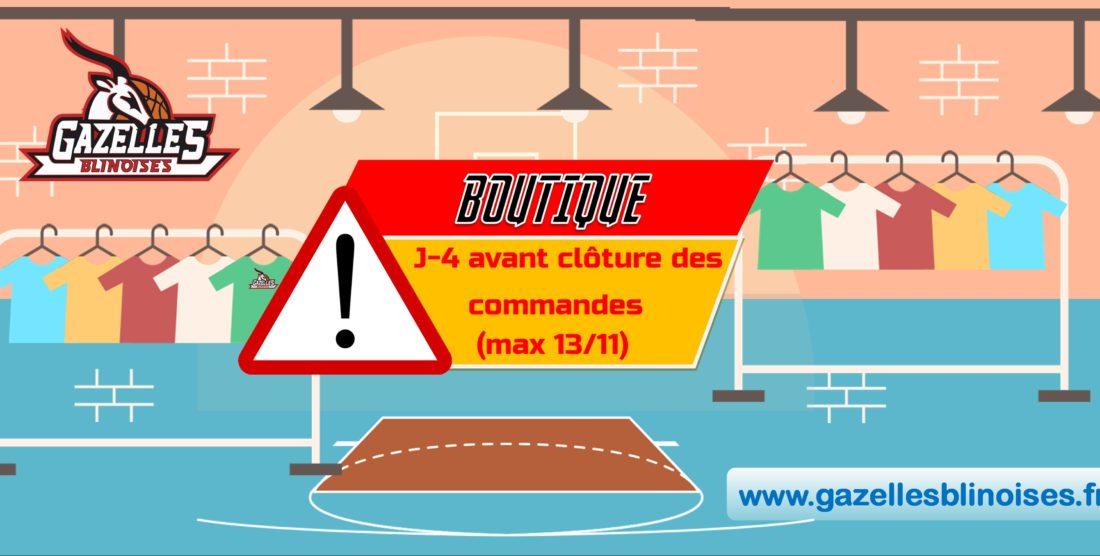 BOUTIQUE : Clôture des commandes le 13/11