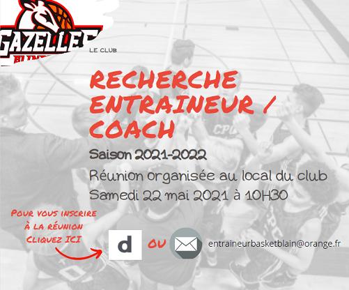 Saison 21-22 – Recherche coach/entraîneur