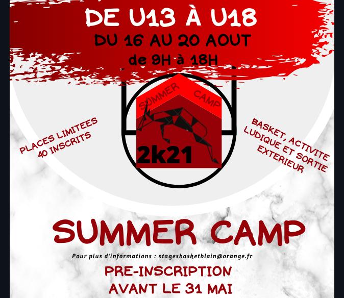 Summer camp – août – U13 U15