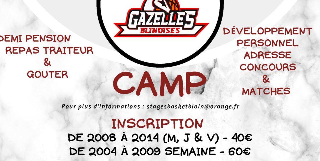 CAMP du 5 au 9 Juillet